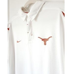 Nike Fit Texas Longhorns Polo White Size Large